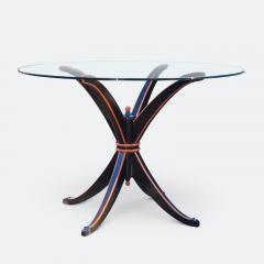 Maison Hirsch Black and Orange Lacquered Table circa 1960 - 2061928