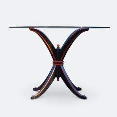 Maison Hirsch Black and Orange Lacquered Table circa 1960 - 2061931