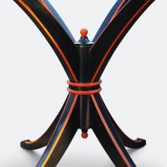 Maison Hirsch Black and Orange Lacquered Table circa 1960 - 2061932