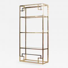 Maison Jansen 1 of 2 Brass and Gold Plated Bookshelf or tag re Attributed to Maison Jansen - 1131940