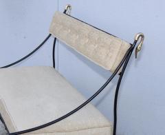 Maison Jansen 1950s Maison Jansen Style Brass And Iron Swan Motif Settee - 1894505