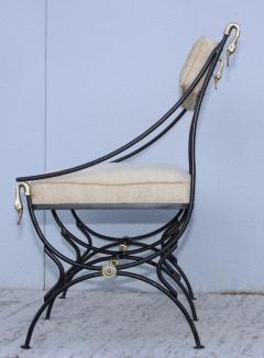 Maison Jansen 1950s Maison Jansen Style Brass And Iron Swan Motif Settee - 1894509