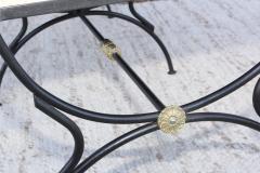 Maison Jansen 1950s Maison Jansen Style Brass And Iron Swan Motif Settee - 1894512