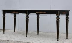 Maison Jansen 1960s Custom Made Long Console With Gold Leaf Top Finish - 1368074
