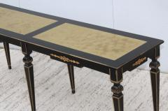 Maison Jansen 1960s Custom Made Long Console With Gold Leaf Top Finish - 1368075