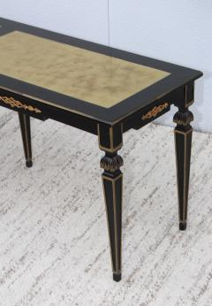 Maison Jansen 1960s Custom Made Long Console With Gold Leaf Top Finish - 1368076