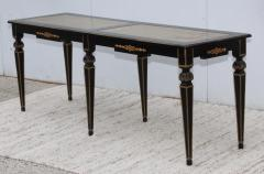 Maison Jansen 1960s Custom Made Long Console With Gold Leaf Top Finish - 1368078