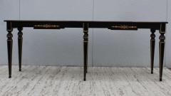 Maison Jansen 1960s Custom Made Long Console With Gold Leaf Top Finish - 1368080