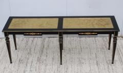 Maison Jansen 1960s Custom Made Long Console With Gold Leaf Top Finish - 1368081