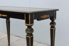 Maison Jansen 1960s Custom Made Long Console With Gold Leaf Top Finish - 1368086