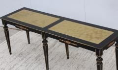 Maison Jansen 1960s Custom Made Long Console With Gold Leaf Top Finish - 1368087
