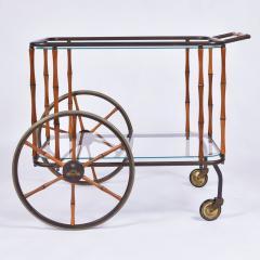 Maison Jansen 1960s French brass and bamboo drinks trolley bar cart by Maison Jansen - 1463630