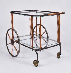 Maison Jansen 1960s French brass and bamboo drinks trolley bar cart by Maison Jansen - 1463632