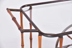 Maison Jansen 1960s French brass and bamboo drinks trolley bar cart by Maison Jansen - 1463634