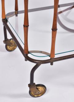 Maison Jansen 1960s French brass and bamboo drinks trolley bar cart by Maison Jansen - 1463635