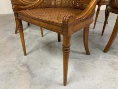 Maison Jansen 6 French Regency Louis XVI Style Cane Dining Chairs in Walnut - 1972455