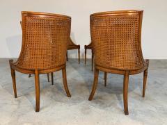 Maison Jansen 6 French Regency Louis XVI Style Cane Dining Chairs in Walnut - 1972457