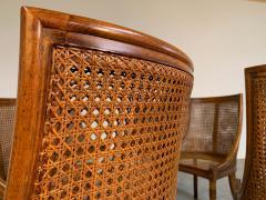 Maison Jansen 6 French Regency Louis XVI Style Cane Dining Chairs in Walnut - 1972458