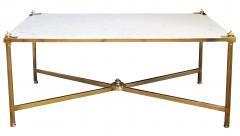 Maison Jansen An Elegant French Maison Jansen Neoclassical Style Brass Coffee Table 103584