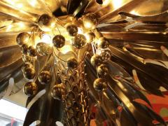 Maison Jansen Beautiful 1970s lighting palm tree in gilded metal and polished brass - 909697