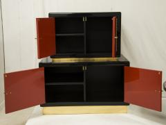 Maison Jansen Cabinet in lacquered wood and brass by Maison Jansen circa 1970 - 1060696