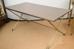 Maison Jansen French 1950s Brass Cocktail Table in the Manner of Maison Jansen - 535249