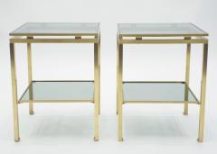 Maison Jansen French Brass end tables Guy Lefevre for Maison Jansen 1970s - 1114915