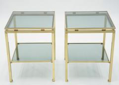 Maison Jansen French Brass end tables Guy Lefevre for Maison Jansen 1970s - 1114916