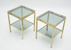 Maison Jansen French Brass end tables Guy Lefevre for Maison Jansen 1970s - 1114918