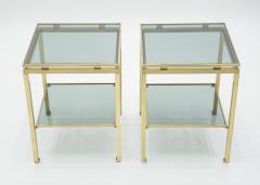 Maison Jansen French Brass end tables Guy Lefevre for Maison Jansen 1970s - 1114919