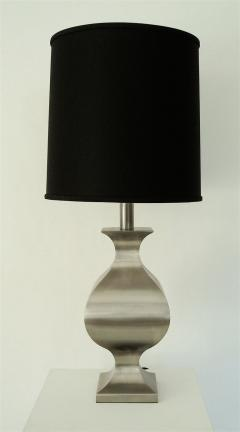 Maison Jansen French Brushed Stainless Steel Table Lamp by Francois See for Maison Jansen - 2053779