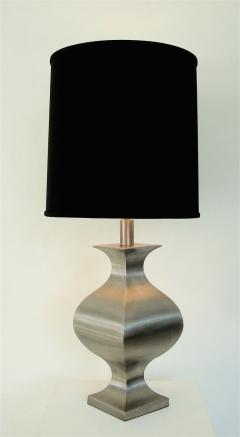 Maison Jansen French Brushed Stainless Steel Table Lamp by Francois See for Maison Jansen - 2053781