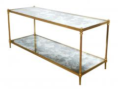 Maison Jansen Good Quality 1960s Maison Jansen Gilt Bronze and Mirrored 2 Tier Coffee Table - 1839946