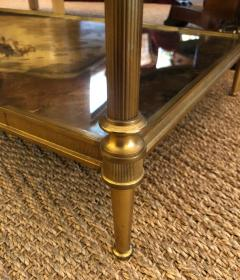 Maison Jansen Good Quality 1960s Maison Jansen Gilt Bronze and Mirrored 2 Tier Coffee Table - 1839950