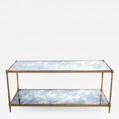 Maison Jansen Good Quality 1960s Maison Jansen Gilt Bronze and Mirrored 2 Tier Coffee Table - 1839998