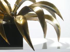 Maison Jansen Hollywood Regency Pair of Maison Jansen brass flower lamps 1970s - 983695