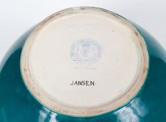 Maison Jansen Important Maison Jansen Turquoise Blue Glazed Ceramic Vase - 790899