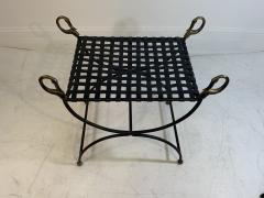 Maison Jansen MAISION JANSEN BLACKENED STEEL AND BRONZE SWAN HEAD BENCHES - 1032337