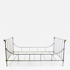 Maison Jansen MAISION JANSEN BRUSHED STEEL AND BRASS DAYBED - 1133708