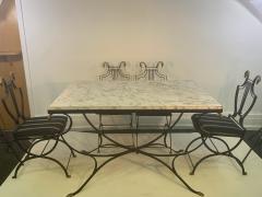 Maison Jansen MAISON JANSEN BRASS SWAN HEAD DINING TABLE AND CHAIRS - 1084510