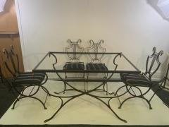 Maison Jansen MAISON JANSEN BRASS SWAN HEAD DINING TABLE AND CHAIRS - 1084512
