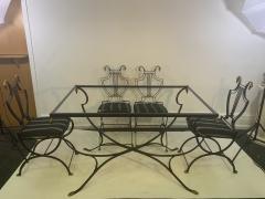 Maison Jansen MAISON JANSEN BRASS SWAN HEAD DINING TABLE AND CHAIRS - 1084516