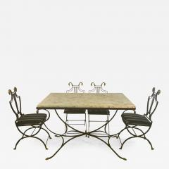 Maison Jansen MAISON JANSEN BRASS SWAN HEAD DINING TABLE AND CHAIRS - 1085048