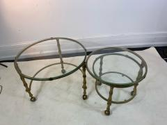 Maison Jansen MODERN SOLID BRASS FAUX BAMBOO EXPANSION NESTING TABLES - 1569367