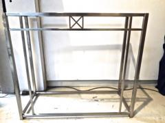 Maison Jansen Maison Jansen 70s pair of sturdy chrome steel console - 1133538