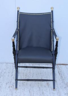 Maison Jansen Maison Jansen Style Campaign Leather Chair - 1156292