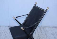 Maison Jansen Maison Jansen Style Campaign Leather Chair - 1156293