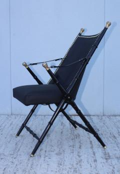 Maison Jansen Maison Jansen Style Campaign Leather Chair - 1156296
