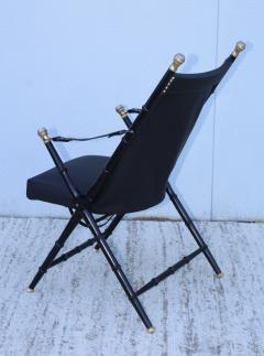 Maison Jansen Maison Jansen Style Campaign Leather Chair - 1156298