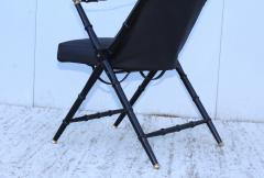 Maison Jansen Maison Jansen Style Campaign Leather Chair - 1156300